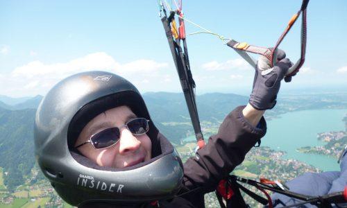 Am Wallberg mit dem Tegernsee im Hintergrund